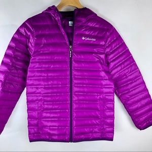 Columbia Youth Pink Powder Lite Hooded Jacket